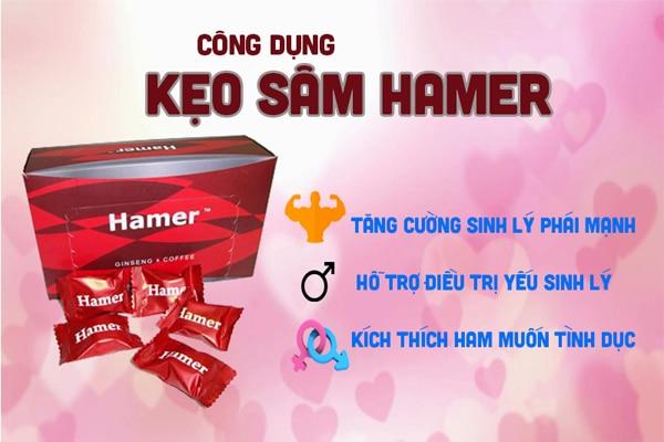 Kẹo sâm hamer giúp tăng cường sinh lý cho nam giới