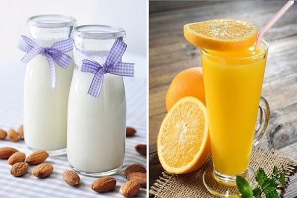 Không nên sử dụng thuốc với sữa hay nước trái cây