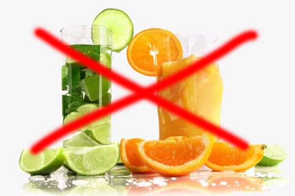 Không sử dụng thuốc với các đồ uống có tính axit cao