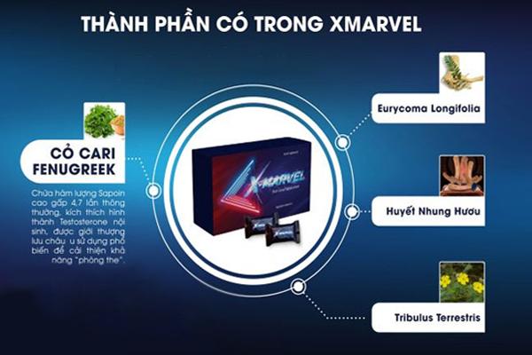 Một số thành phần chính có trong X-Marvel