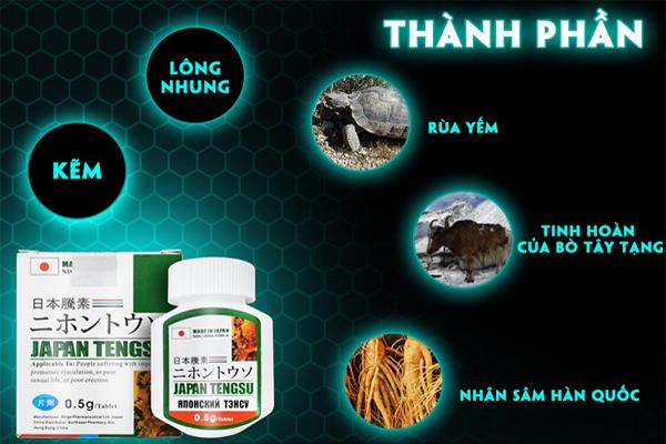 Các thành phần chính có trong thuốc Japan Tengsu