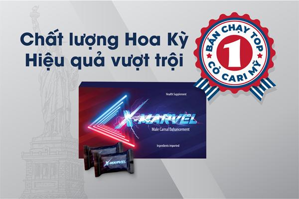 X-Marvel là sản phẩm sinh lý bán chạy số 1 tại Việt Nam