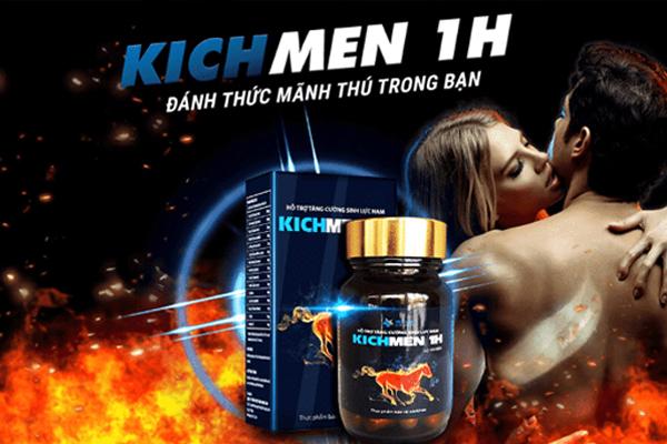 Thuốc kích dục nam cực mạnh Kichmen 1h