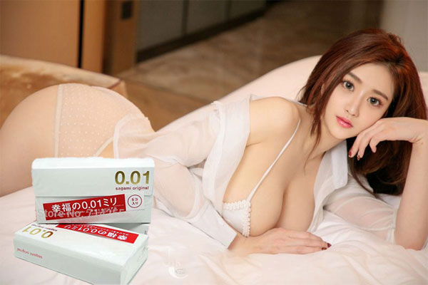 Bao cao su Sagami Original 0.01 hoàn toàn không có mùi cao su, có khả năng chống dị ứng tốt