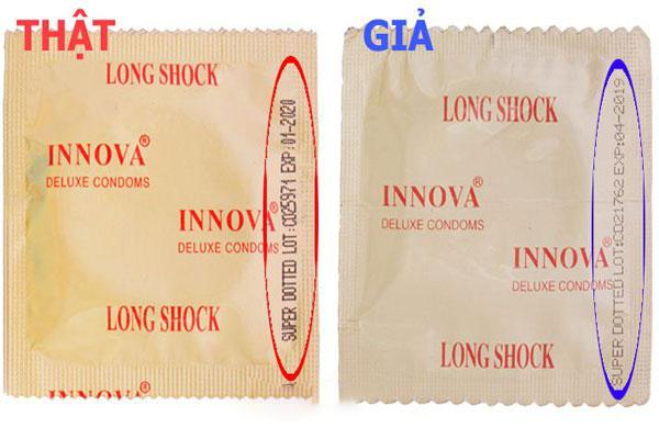 Một số cách phân biệt bao cao su Innova vàng thật - giả